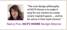 From the HGTV HOME ad, March 2013.