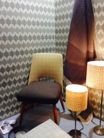 """Look closely..we ONLY have 2 prints and two textures in this room setting, its the different materials and colors that make this """"patterned experience"""" work!"""