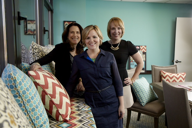 Left to Right. Nancy Fire, HGTV HOME Design Director, Sara Peterson, Editor in Chief HGTV Magazine, Carol Crawford, Director of Marketing, Consumer products at HGTV HOME