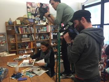 Filming at Design Works International for HGTV digital.